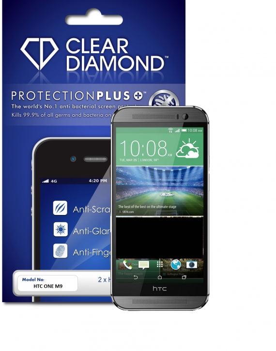 HTC ONE M9 Protection Plus Anti Glare Screen Protector (Pack of two)