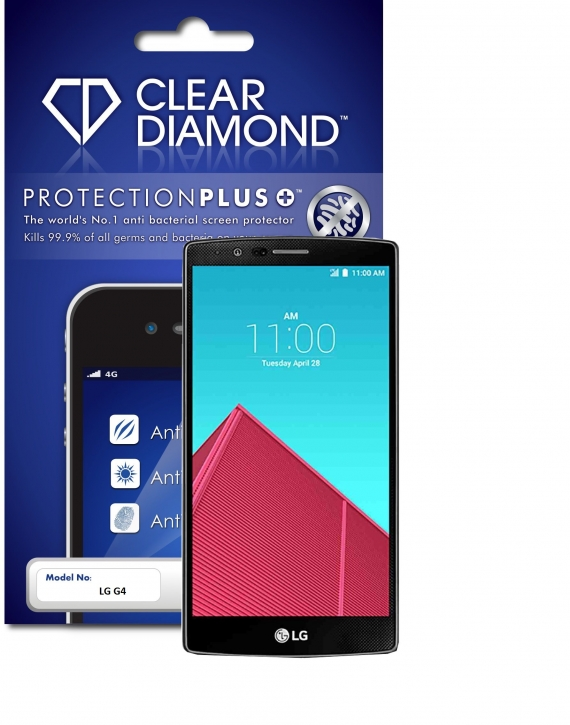 LG G4 Protection Plus Anti Glare Screen Protector (Pack of two)