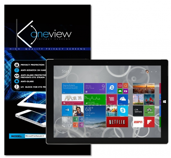 MICROSOFT SURFACE PRO 3 Oneview privacy screen