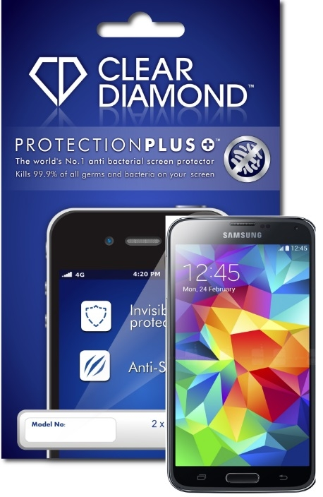 Samsung S5 Plus Hardcoat Screen Protector (Pack of two)